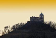 St Mary av snökyrkan i Slovenien Arkivfoton