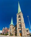 St Mary av starrkatolska kyrkan på Niagara Falls, New York Royaltyfria Foton