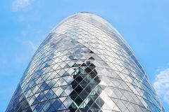 30 St Mary Axe building or Gherkin building on blue sky, London Royalty Free Stock Images