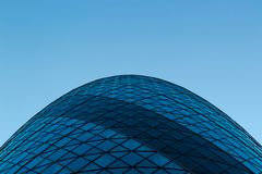Sir Norman Foster Building The Gherkin. picture from below royalty free stock images