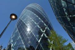 30 St Mary Axe de torenbouw in Stad van Londen, het UK Stock Afbeelding