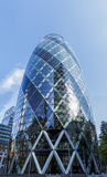 30 St Mary Axe / The Gherkin Vertical Panorama Royalty Free Stock Images