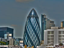 St Mary Axe (The Gherkin) in London Stock Image