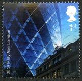 30 St Mary Axe Postage zegel Royalty-vrije Stock Afbeelding