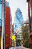 30 St Mary Axe skyscraper in London Royalty Free Stock Photos