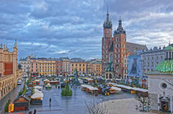 Free St Mary Basilica And Church Of St Wojciech And Cloth Hall In The Royalty Free Stock Image - 62083376
