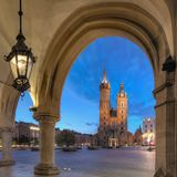 St Mary Basilica, Krakau Royalty-vrije Stock Fotografie