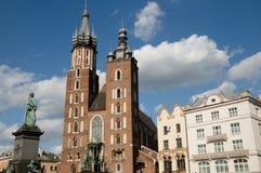 St Mary Basilica - Krakow - Poland Stock Photos