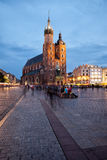 St Mary Basilica in Old Town of Krakow Stock Images