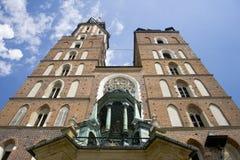 St Mary Basiliek Krakau Royalty-vrije Stock Afbeelding