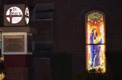 St. Mary bij nacht Stock Afbeeldingen