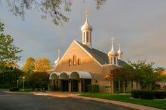 St Mary Byzantine Catholic Church Marblehead ohio EUA imagens de stock