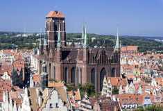 St Mary Cathedral in Gdansk, Poland Stock Photos