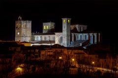 St Mary Cathedral i Siguenza Guadalajara Spanien Royaltyfria Bilder