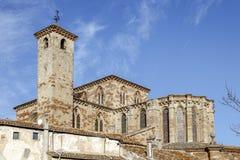 St Mary Cathedral i Siguenza Guadalajara Spanien Arkivfoto