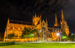 Free St Mary Cathedral In Sydney At Night - Australia Stock Images - 84156944