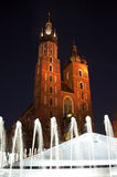 St Mary cathedral in main square in Krakow Royalty Free Stock Image
