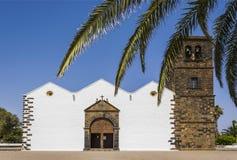 St Mary Church av Betancuria, Spanien Royaltyfri Fotografi