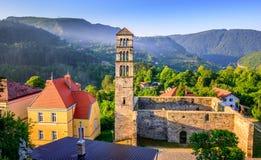 St Mary Church en Jajce, Bosnia y Herzegovina Foto de archivo libre de regalías