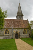 St. Mary church entrance, Whitchurch on Thames. View of main entrance on the north side of ancient church in touristic village on river Thames, shot under cloudy Stock Photos