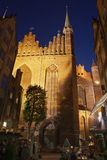 St Mary Church in Gdansk at Night Royalty Free Stock Photography