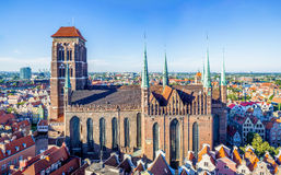 St. Mary Church in Gdansk, Polen Lizenzfreies Stockbild