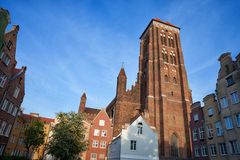 St. Mary Church in Gdansk. St. Mary Church (Polish: Bazylika Mariacka) in Old Town of Gdansk, Poland Royalty Free Stock Image