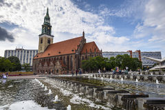 St. Mary Church, known in German as the Marienkirche Stock Photo