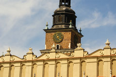 The St Mary church at the market in Krakow in Poland Stock Image