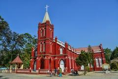 St. Mary Church in Pyin Oo Lwin stockbild