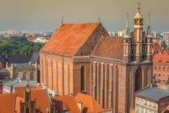 St Mary church, Torun, Kuyavia-Pomerania, Poland.  royalty free stock photo