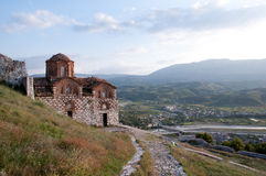 St Mary d'église de Blachernae, Berat, Albanie Photographie stock libre de droits