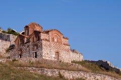 St Mary da igreja de Blachernae, Berat, Albânia Imagem de Stock