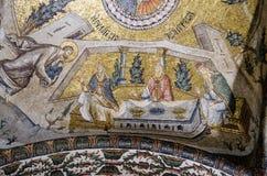 St Mary die bij de Tempel, mozaïek worden voorgesteld royalty-vrije stock afbeeldingen