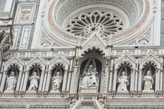 St Mary et Jésus, façade de delFiori de Santa Maria, Florence Photos stock