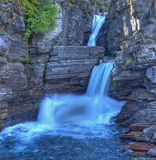 St Mary Falls, Glacier National Park Stock Image