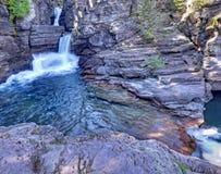 St Mary Falls, Glacier National Park Stock Photos