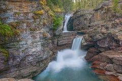 St Mary Falls Het Nationale Park van de gletsjer montana De V.S. royalty-vrije stock foto's