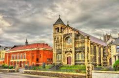 St Mary gwiazda Denny urząd miasta w Portstewart i kościół - N Zdjęcie Royalty Free