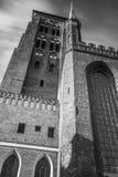 St Mary Kathedraal in oude stad van Gdansk Stock Fotografie