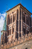 St Mary Kathedraal in oude stad van Gdansk, Polen Royalty-vrije Stock Afbeeldingen