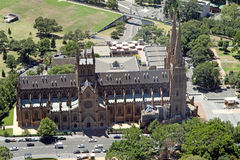 St. Mary Kathedraal. Sydney stock foto