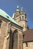 St Mary Kathedrale auf Domberg-Hügel in Erfurt, Deutschland Lizenzfreies Stockbild