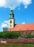 St. Mary Kerk, Berlijn Stock Foto