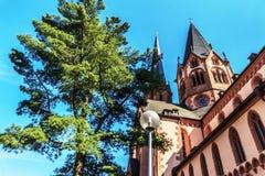 St. Mary kerk in Gelnhausen, Duitsland. Royalty-vrije Stock Foto's