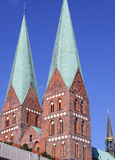 St Mary kerk-I-Luebeck-Duitsland Stock Foto
