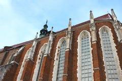 St Mary kerk in Krakau Royalty-vrije Stock Foto's