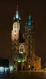 St Mary Kerk in Krakau (Polen) Royalty-vrije Stock Foto