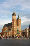 St. Mary kerk in Krakau, Polen Stock Afbeeldingen