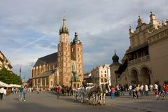 St. Mary kerk in Krakau, Polen Royalty-vrije Stock Foto